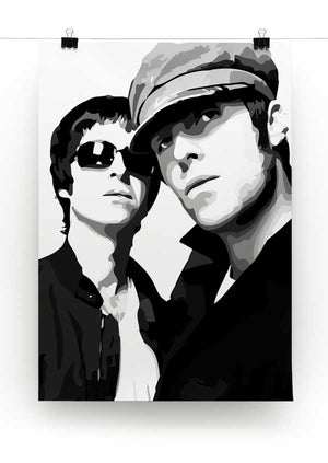 Liam & Noel Gallagher Oasis Print - Canvas Art Rocks - 3
