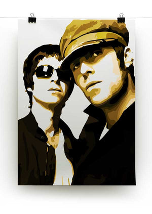 Liam & Noel Gallagher Oasis Print - Canvas Art Rocks - 2