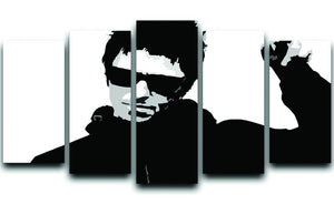 Liam Gallagher Black and White 5 Split Panel Canvas  - Canvas Art Rocks - 1