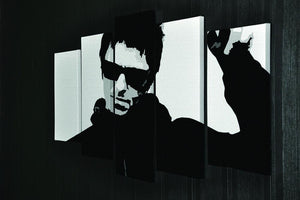 Liam Gallagher Black and White 5 Split Panel Canvas - Canvas Art Rocks - 2