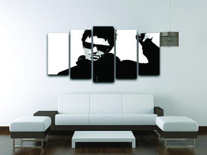 Liam Gallagher Black and White 5 Split Panel Canvas - Canvas Art Rocks - 3