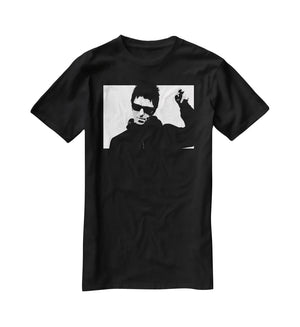 Liam Gallagher Black and White T-Shirt - Canvas Art Rocks - 1