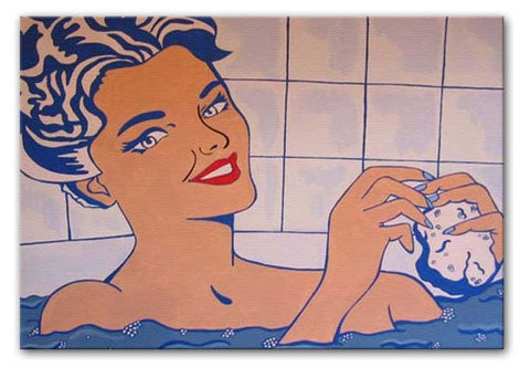 Lichenstein Woman in Bath Print - They'll Love It
