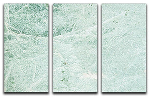 Light Green Cracked Marble 3 Split Panel Canvas Print - Canvas Art Rocks - 1