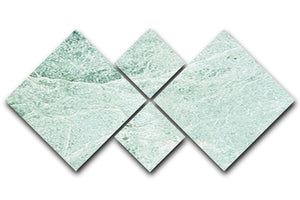 Light Green Cracked Marble 4 Square Multi Panel Canvas - Canvas Art Rocks - 1