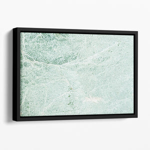 Light Green Cracked Marble Floating Framed Canvas - Canvas Art Rocks - 1