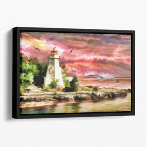 Lighthouse Floating Framed Canvas