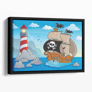 Lighthouse theme image 5 Floating Framed Canvas