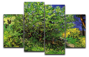 Lilacs by Van Gogh 4 Split Panel Canvas  - Canvas Art Rocks - 1