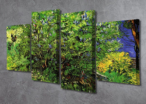 Lilacs by Van Gogh 4 Split Panel Canvas - Canvas Art Rocks - 2