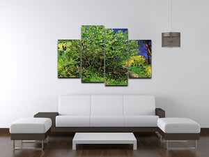 Lilacs by Van Gogh 4 Split Panel Canvas - Canvas Art Rocks - 3