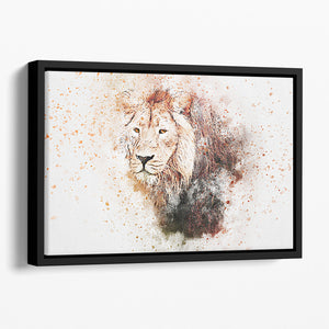 Lion Splatter Floating Framed Canvas