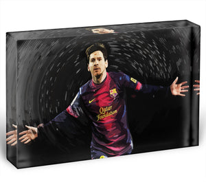 Lionel Messi Acrylic Block - Canvas Art Rocks - 1