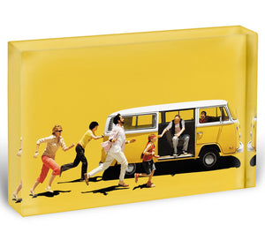 Little Miss Sunshine Acrylic Block - Canvas Art Rocks - 1