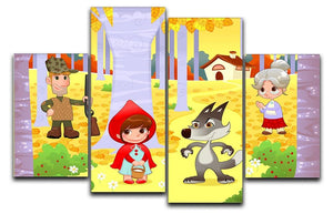 Little Red Hiding Hood scene 4 Split Panel Canvas  - Canvas Art Rocks - 1