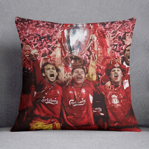 Liverpool Football Champions League In Istanbul Cushion