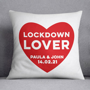 Lockdown Lover Personalised Cushion