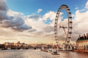 London Eye on River Thames Wall Mural Wallpaper - Canvas Art Rocks - 1