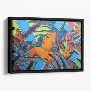 London Street Art Floating Framed Canvas