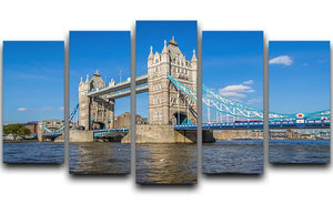 London Tower Bridge 5 Split Panel Canvas  - Canvas Art Rocks - 1