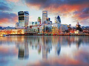 London skyline Wall Mural Wallpaper - Canvas Art Rocks - 1