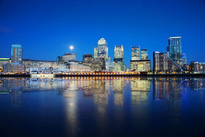 London skyscrapers reflected Wall Mural Wallpaper - Canvas Art Rocks - 1