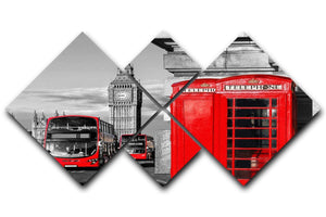 London symbols 4 Square Multi Panel Canvas  - Canvas Art Rocks - 1