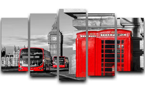 London symbols 5 Split Panel Canvas  - Canvas Art Rocks - 1
