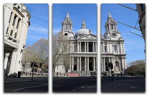 London under Lockdown 2020 St Pauls Cathedral 3 Split Panel Canvas Print - Canvas Art Rocks - 1