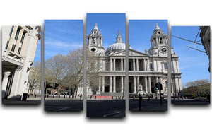 London under Lockdown 2020 St Pauls Cathedral 5 Split Panel Canvas - Canvas Art Rocks - 1