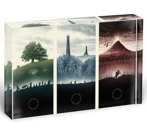 Lord Of The Rings Story Acrylic Block - Canvas Art Rocks - 1
