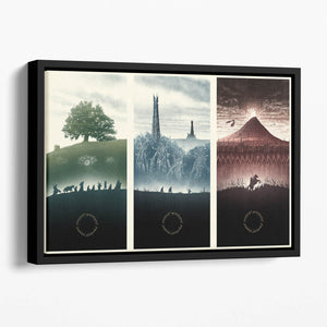 Lord Of The Rings Story Floating Framed Canvas