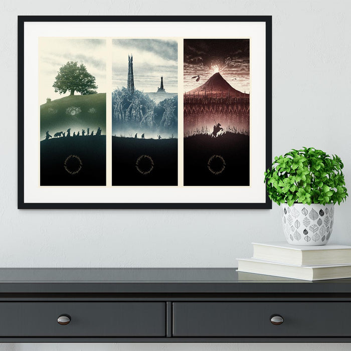 Lord Of The Rings Story Framed Print