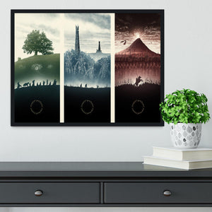 Lord Of The Rings Story Framed Print - Canvas Art Rocks - 2