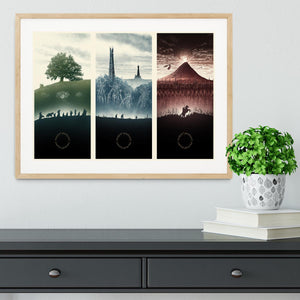 Lord Of The Rings Story Framed Print - Canvas Art Rocks - 3