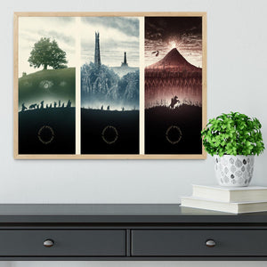 Lord Of The Rings Story Framed Print - Canvas Art Rocks - 4
