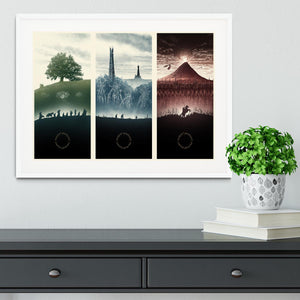 Lord Of The Rings Story Framed Print - Canvas Art Rocks - 5