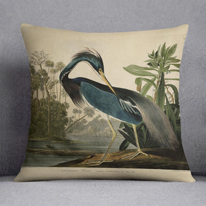 Louisiana Heron by Audubon Cushion