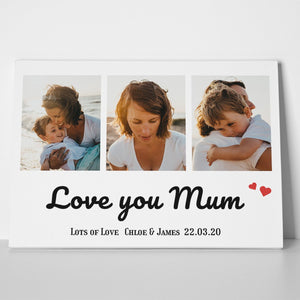 Love You Photo Canvas Print