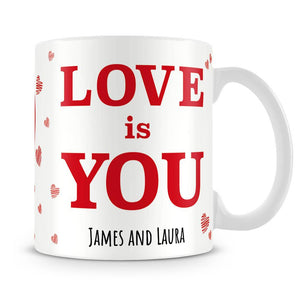 Love is You Photo Upload Personalised Mug