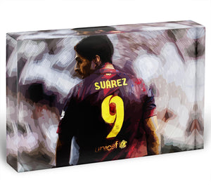 Luis Suarez Barcelona Acrylic Block - Canvas Art Rocks - 1