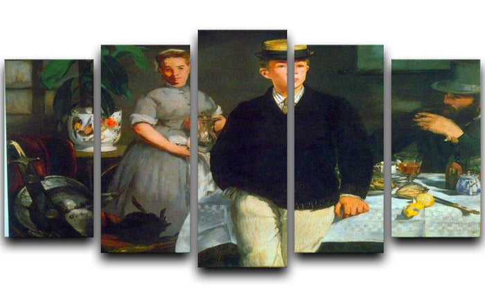 Luncheon by Manet 5 Split Panel Canvas