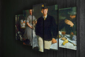 Luncheon by Manet 5 Split Panel Canvas - Canvas Art Rocks - 2