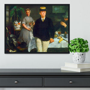 Luncheon by Manet Framed Print - Canvas Art Rocks - 2