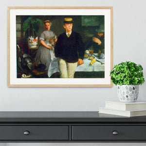 Luncheon by Manet Framed Print - Canvas Art Rocks - 3
