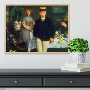 Luncheon by Manet Framed Print - Canvas Art Rocks - 4