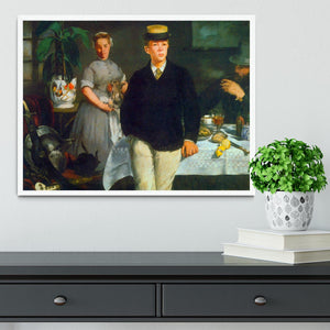 Luncheon by Manet Framed Print - Canvas Art Rocks -6