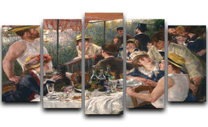 Luncheon of the Boating Party by Renoir 5 Split Panel Canvas  - Canvas Art Rocks - 1