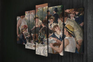 Luncheon of the Boating Party by Renoir 5 Split Panel Canvas - Canvas Art Rocks - 2