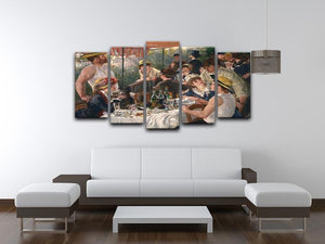 Luncheon of the Boating Party by Renoir 5 Split Panel Canvas - Canvas Art Rocks - 3